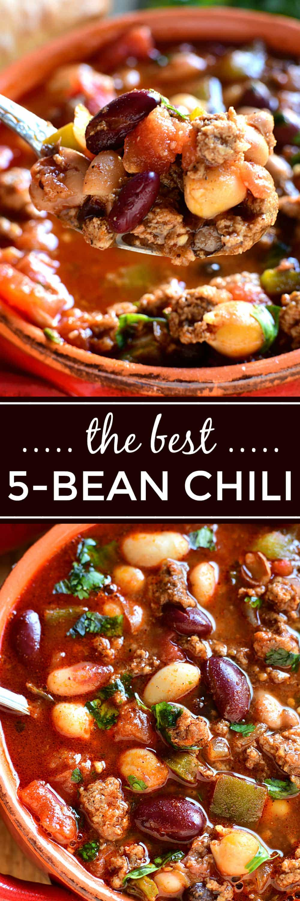 This 5 Bean Chili is loaded with fresh ingredients and packed with flavor. A deliciously satisfying meal that's also quick & easy to whip up!