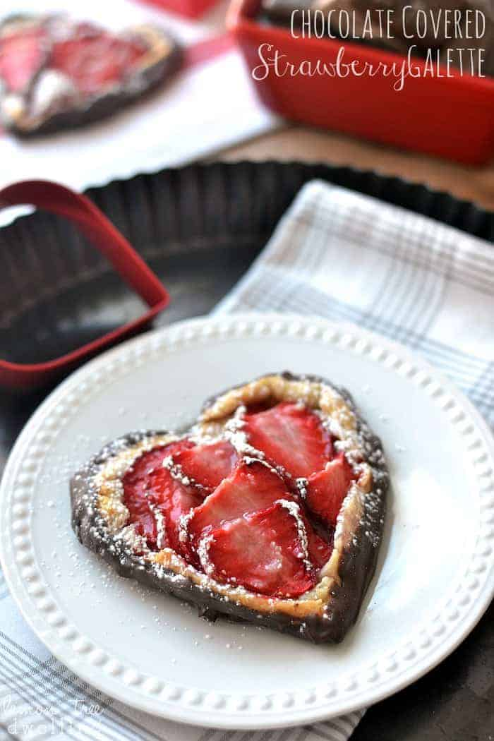 Chocolate Covered Strawberry Galette. So simple & sweet!!