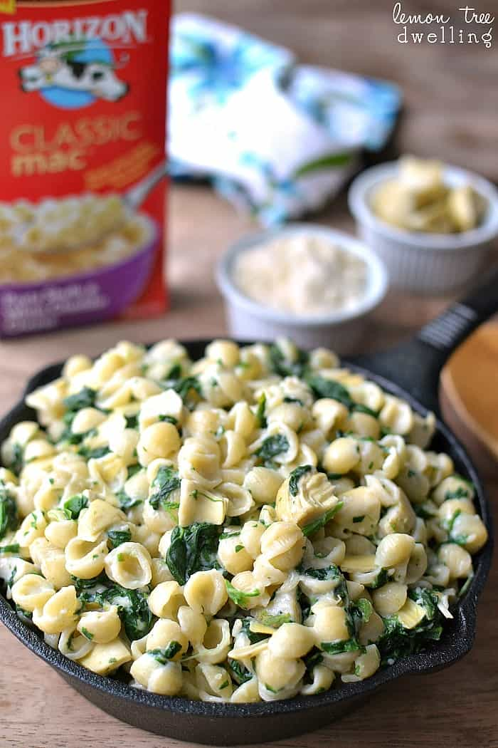 This 3-Cheese Spinach Artichoke Mac & Cheese recipe takes your homemade mac and cheese recipe to the next level.