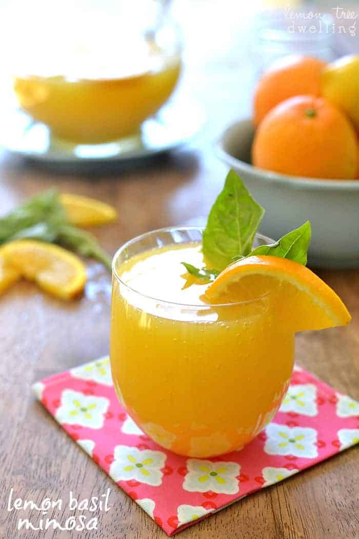Entertaining with Lemon Basil Mimosas and Chinet® Cut Crystal® #ad #chinet