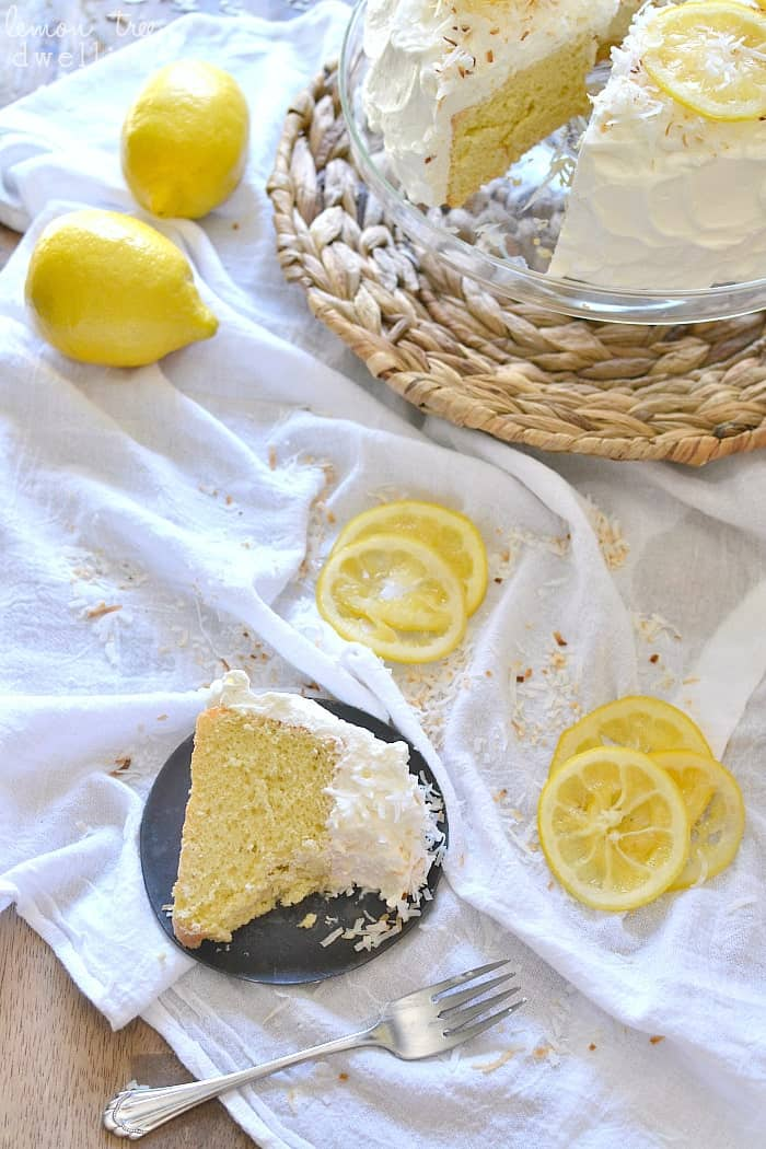 Lemon-Coconut Golden Angel Cake - light, delicious, and perfect for Easter!