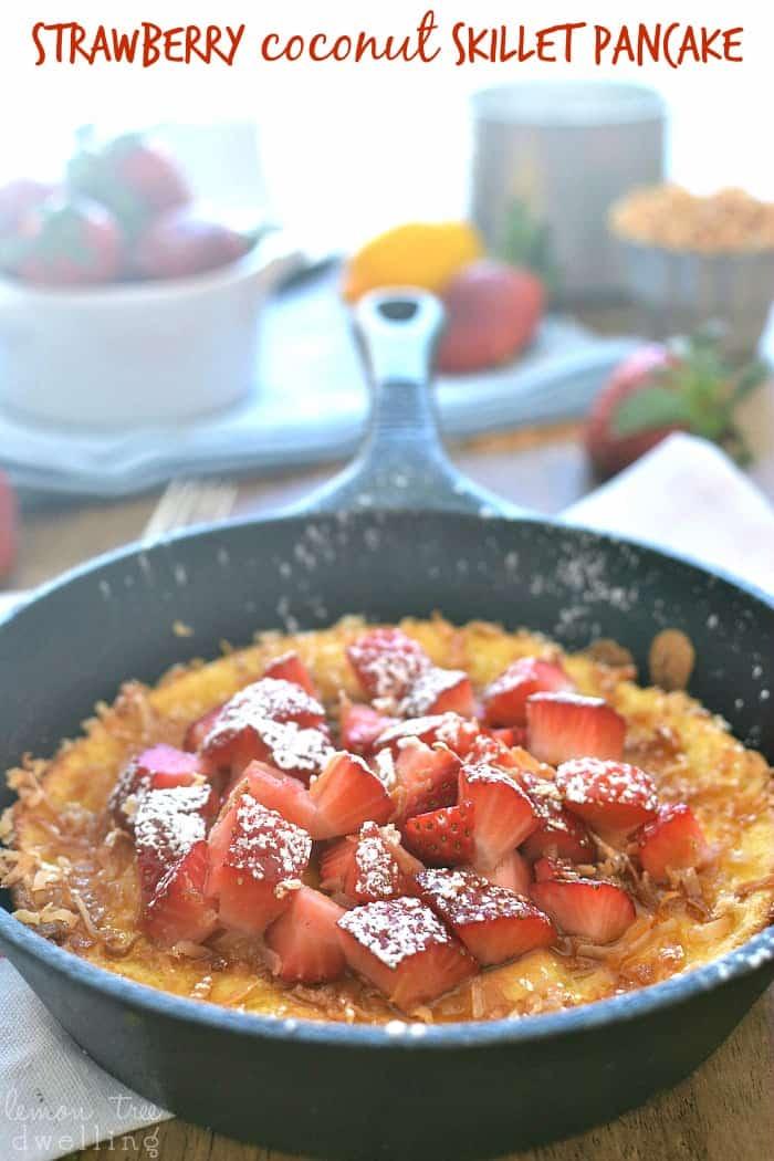 Strawberry Coconut Skillet Pancake 5c