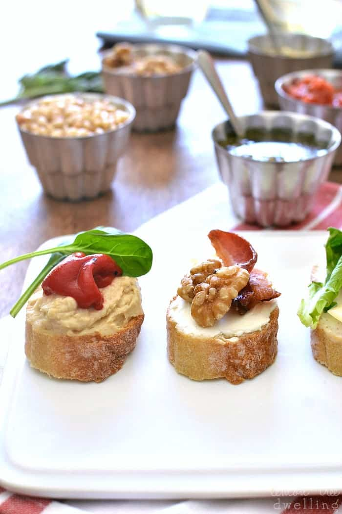 3-Ingredient Crostini Recipes - perfect for summer entertaining!