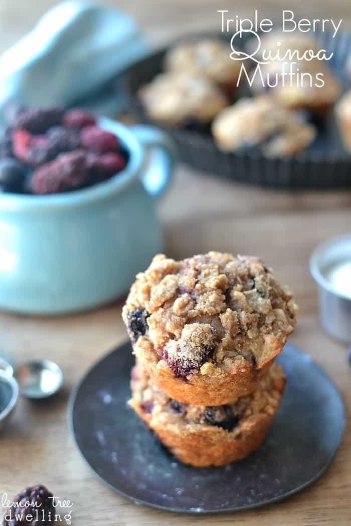 Triple Berry Quinoa Muffins 1