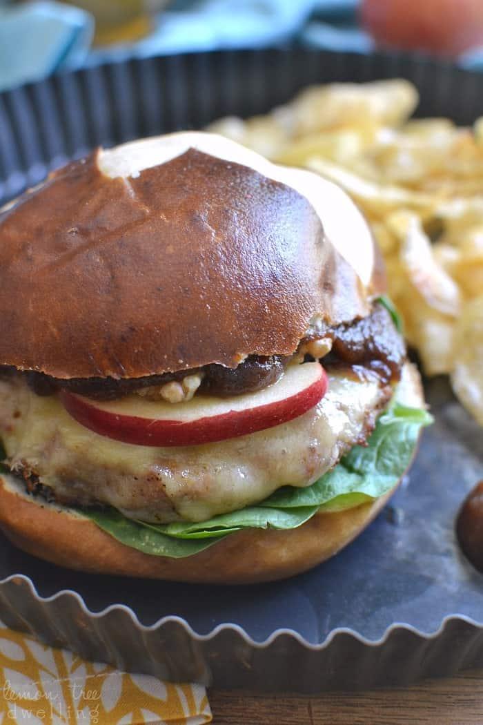 Cheddar Apple Turkey Burgers 4
