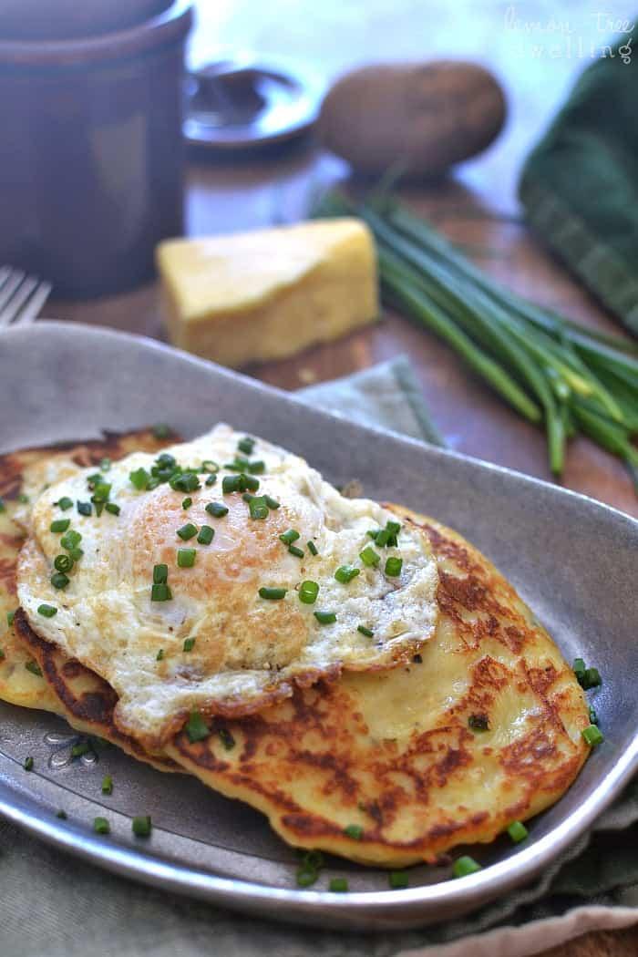 Cheesy Irish Potato Pancakes 4