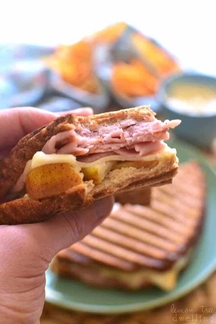 Ham & Pear Panini 1b