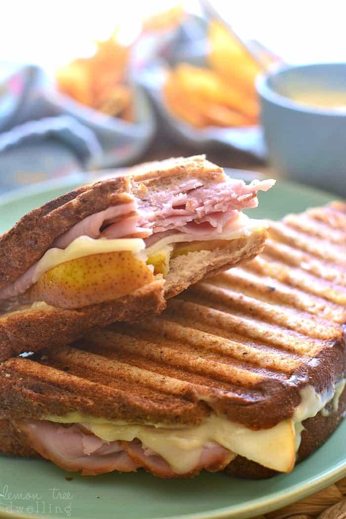 Ham & Pear Panini 5b
