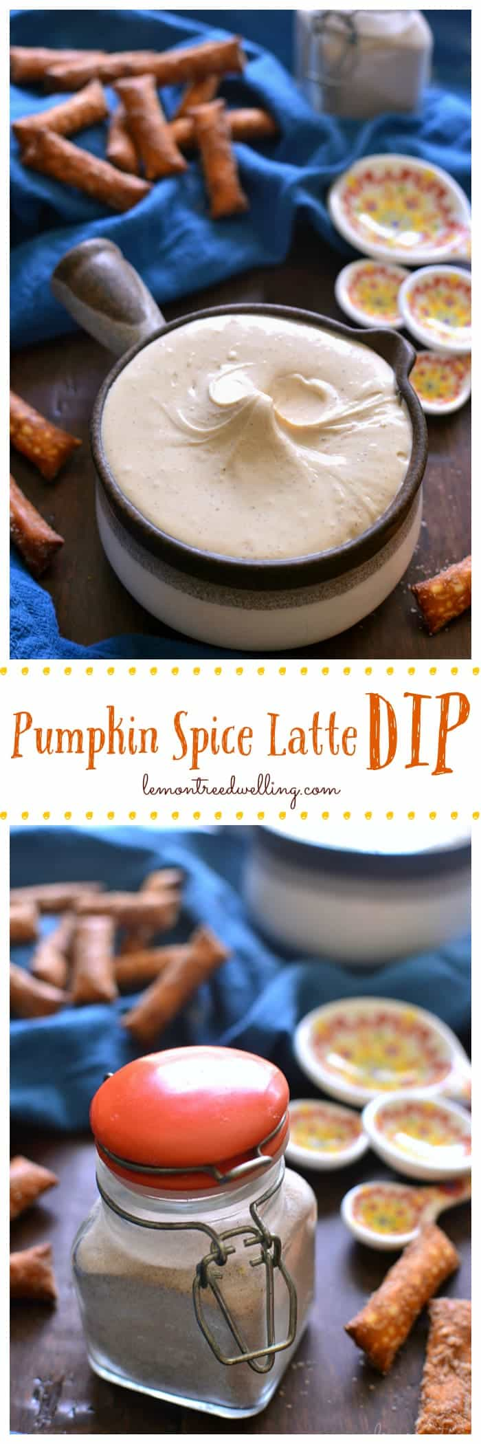 This Pumpkin Spice Latte Dip is sweet, creamy, and reminiscent of the pumpkin spice lattes we know and love!