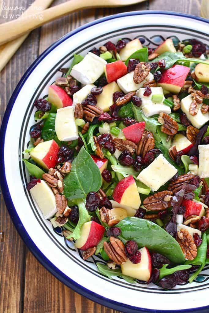Overhead image of Apple Brie Salad