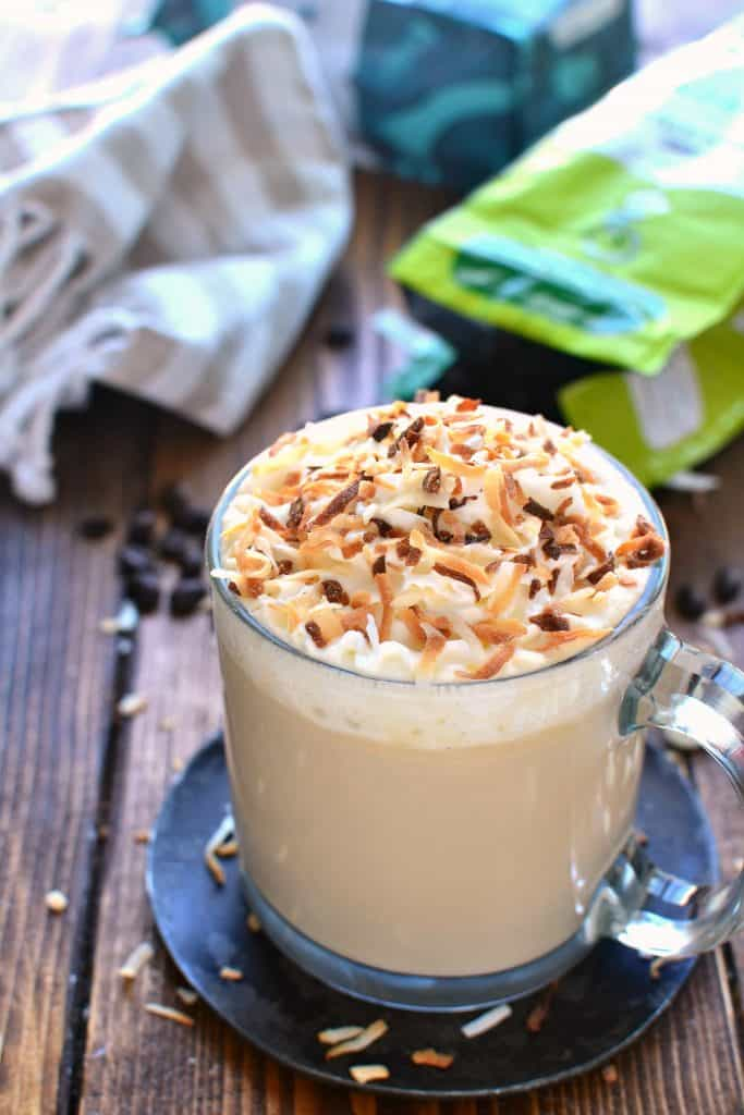 This Coconut White Chocolate Mocha is just like your favorite coffeehouse special! The perfect way to treat yourself....at home!