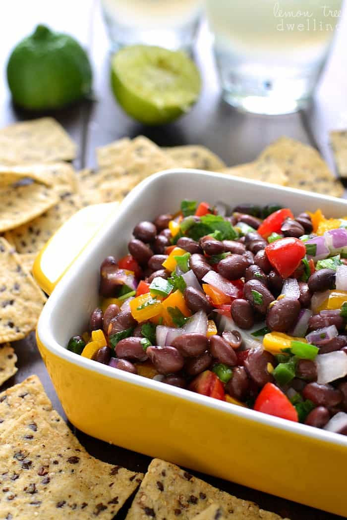 This Confetti Bean Dip is light, refreshing, and packed with delicious flavor! Perfect for game day, taco night, or everyday snacking!