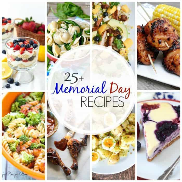 titled photo collage - 25+ Memorial Day Recipes