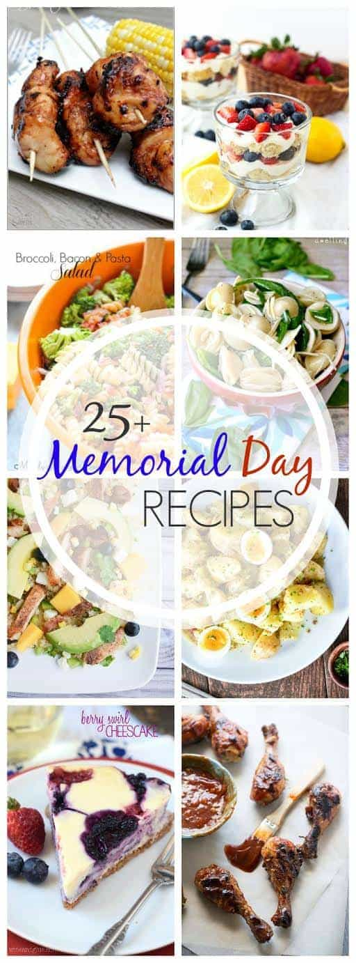 titled pinterest photo collage of Memorial Day Recipes