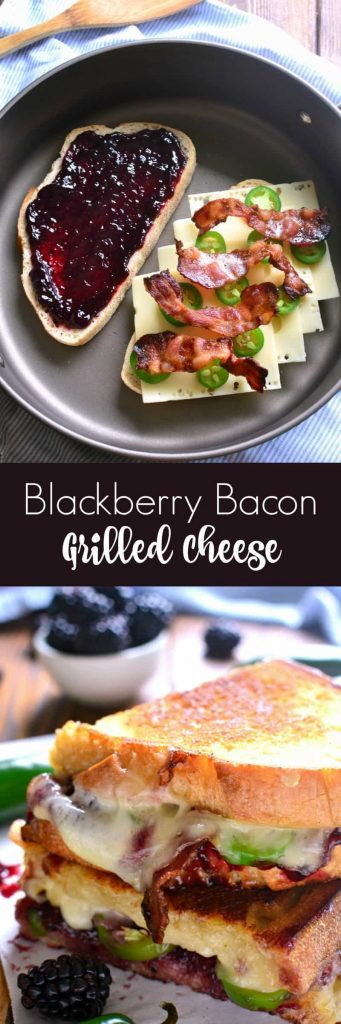 titled photo collage - Blackberry Bacon Grilled Cheese