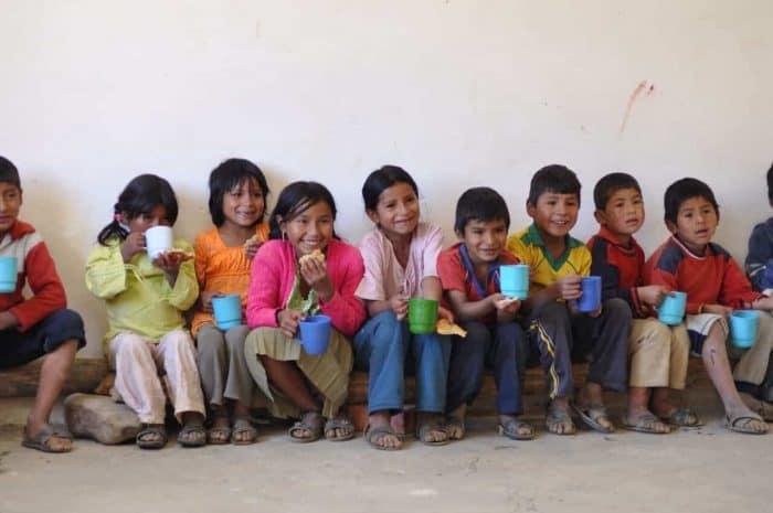 smiling Bolivian children