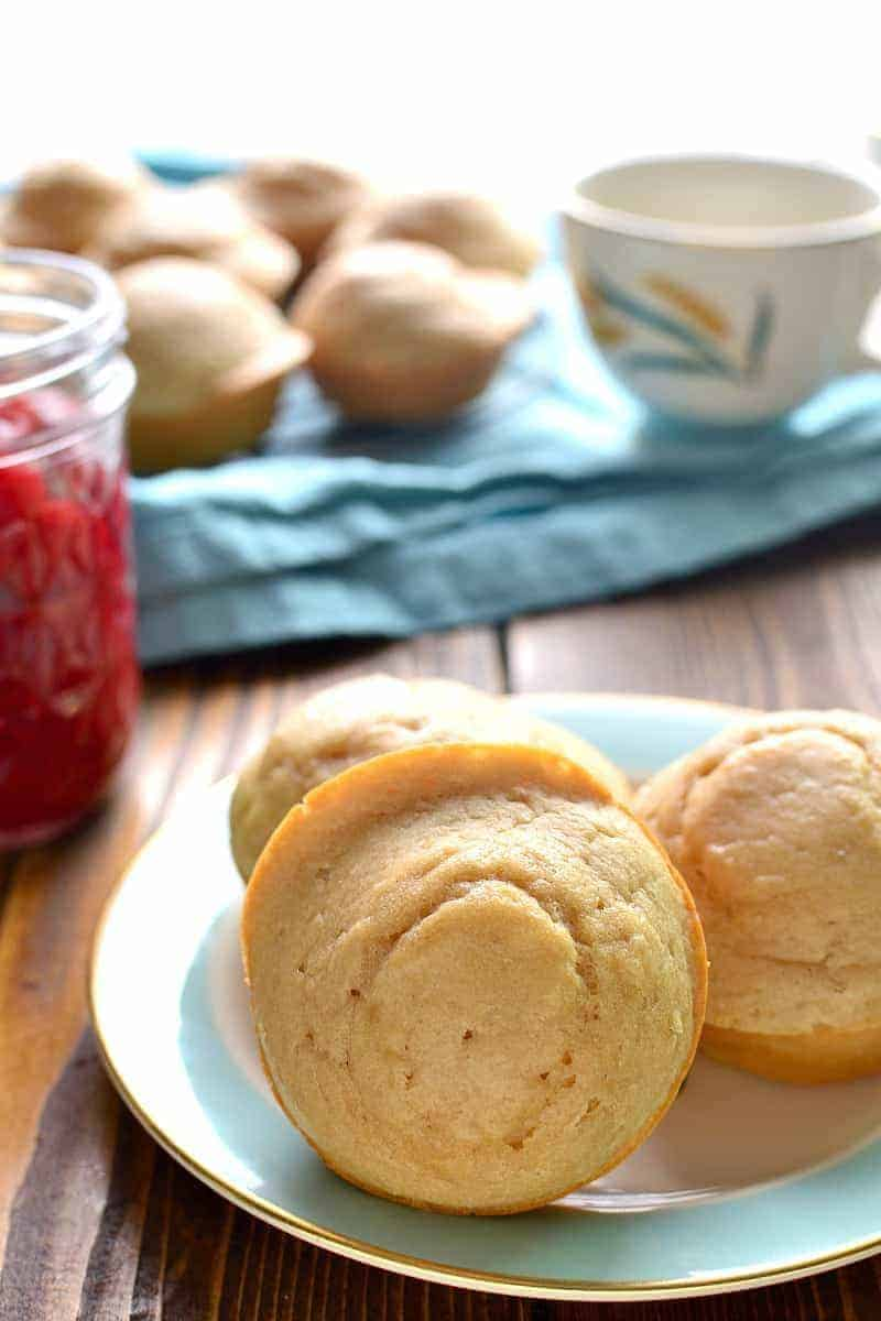 a plate full of healthier vanilla muffins