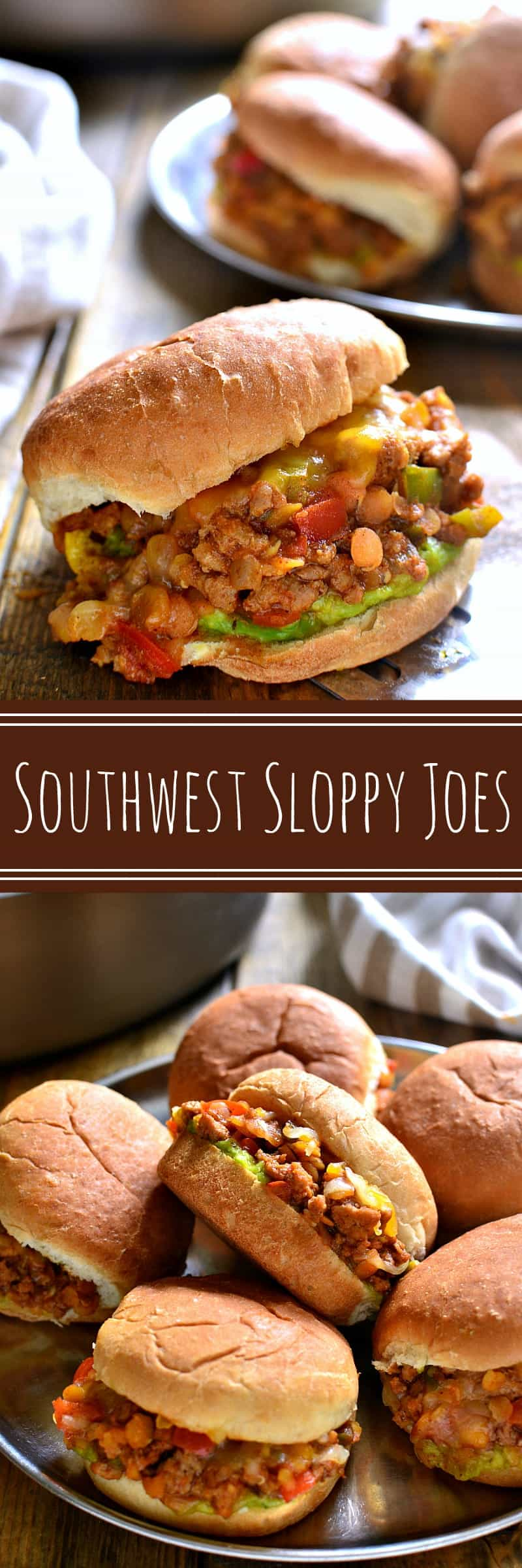 Southwest Sloppy Joes combine the classic flavors of sloppy joes with a delicious southwest twist that's sure to be a hit. Perfect for weeknight dinners, game days, or get togethers, these sloppy joes are easy to make and fit for a crowd!