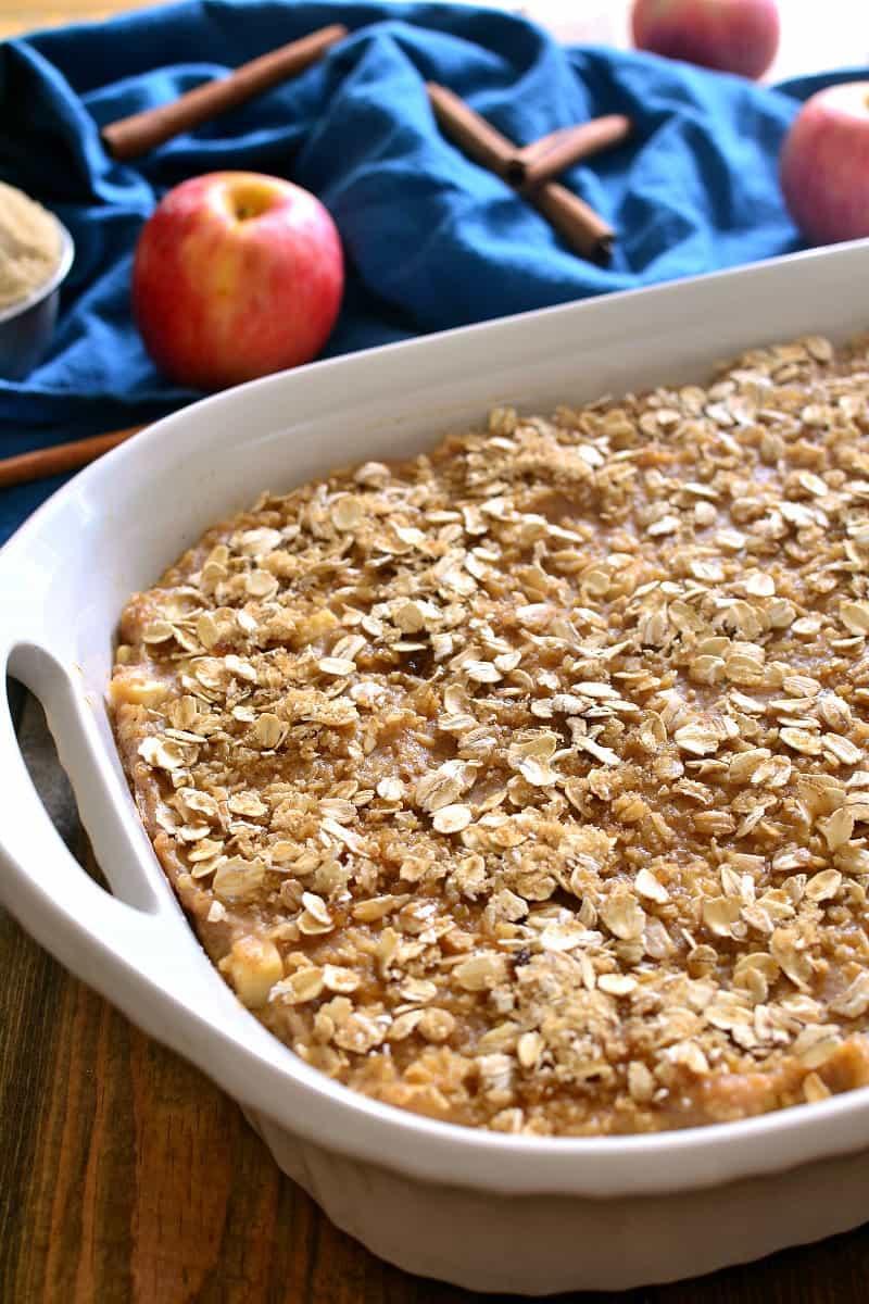 Apple Cinnamon Baked Oatmeal 1d