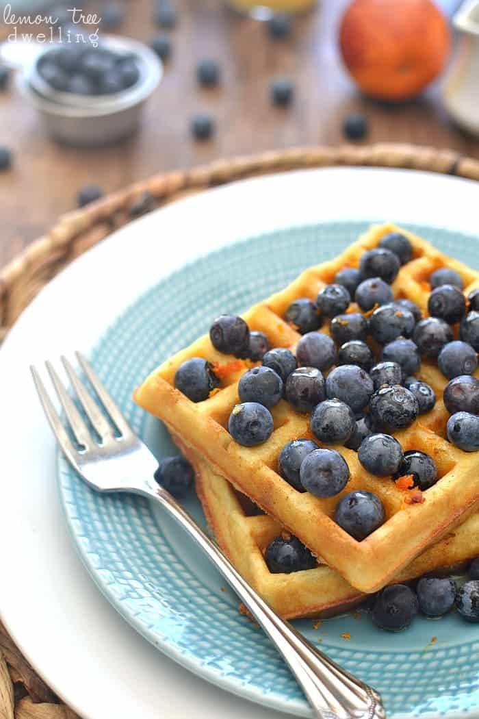 Blueberry Orange Waffles 2