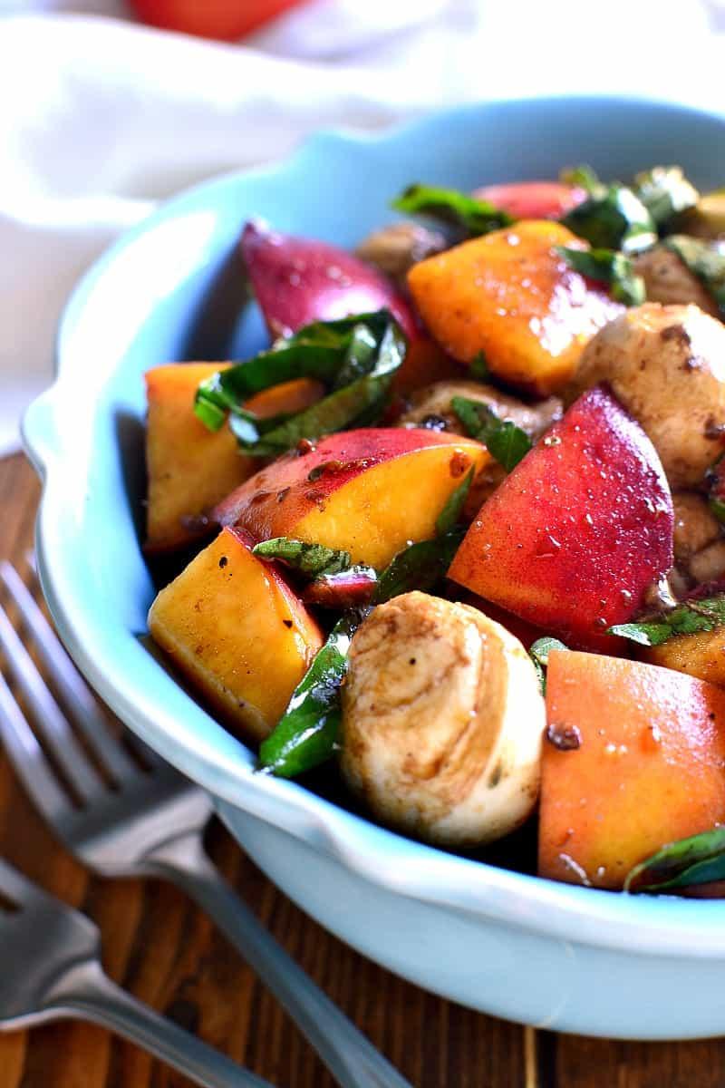 Caprese Peach Salad 6