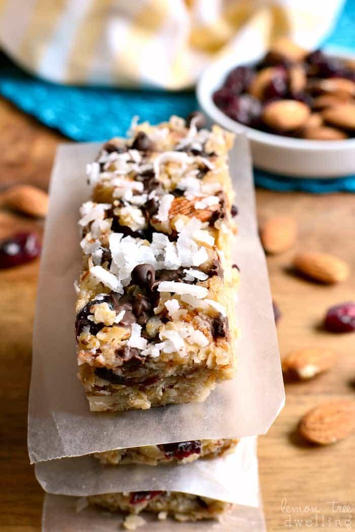 Cranberry Almond Joy Granola Bars 5b