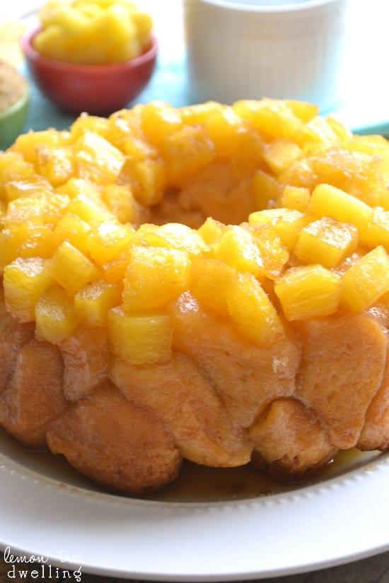 Pineapple Upside Down Monkey Bread 5