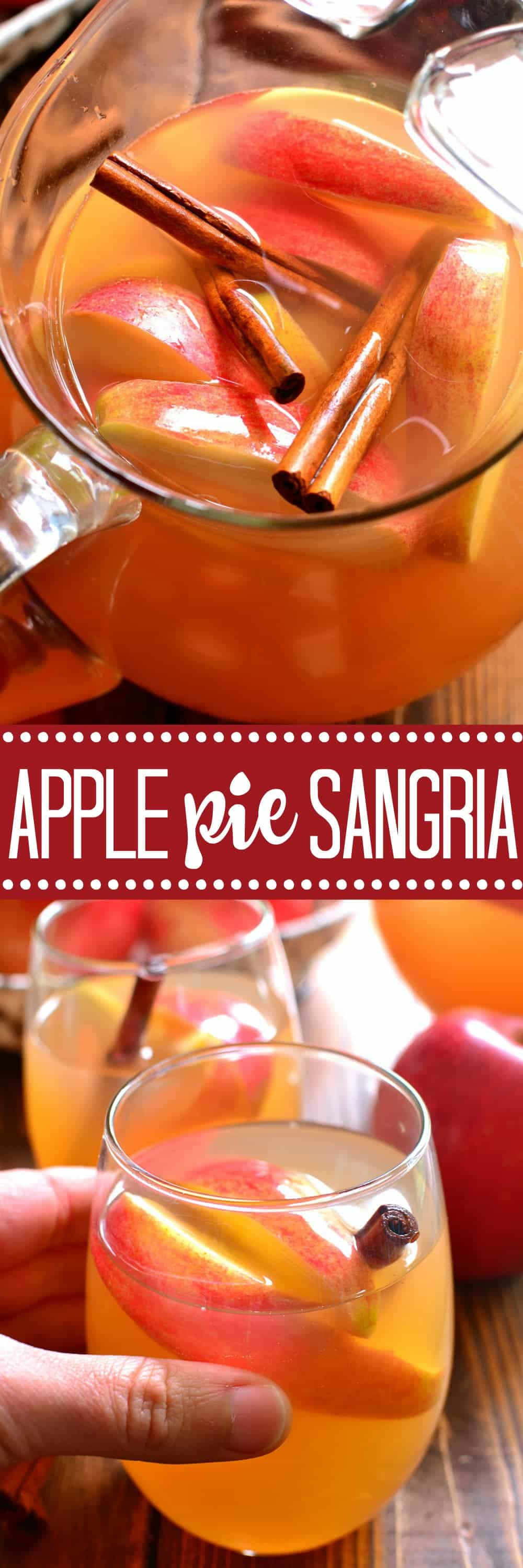 Apple Pie Sangria tastes just like apple pie...in a glass! THE perfect drink for fall!