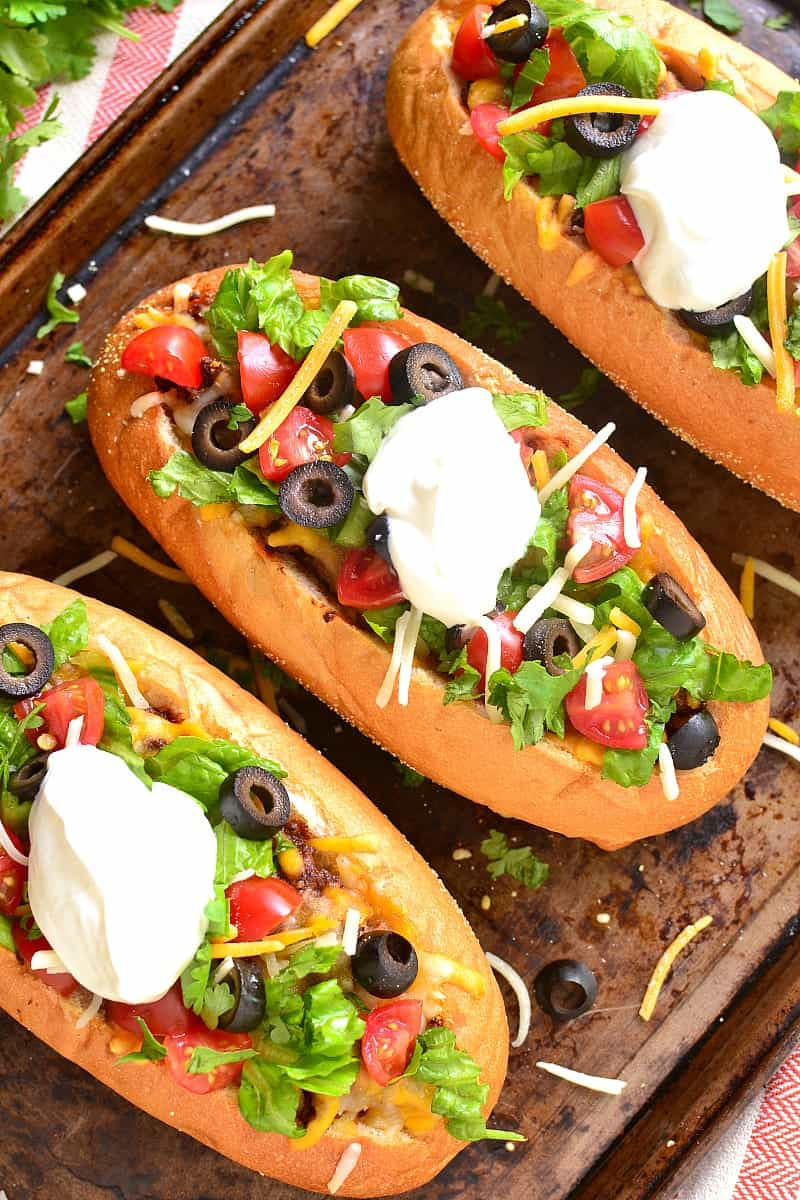 These French Bread Tacos combine all the taco flavors you love with the delicious, crusty bread you can't get enough of! Perfect for game day or an easy weeknight dinner!