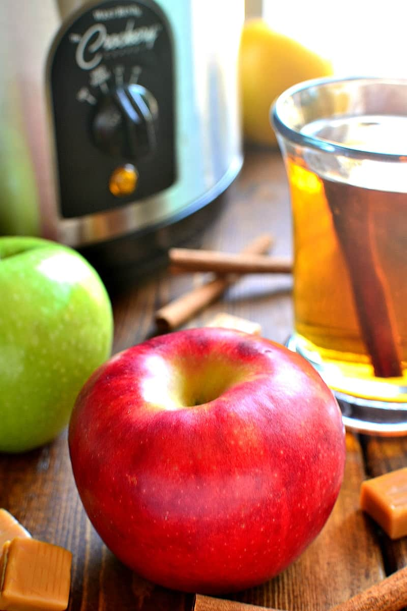 This Boozy Butterscotch Crock Pot Apple Cider is deliciously sweet, lightly spiced, and perfect for fall! Stick it in a crock pot and let your guests serve themselves....this apple cider is sure to be the hit of the party!