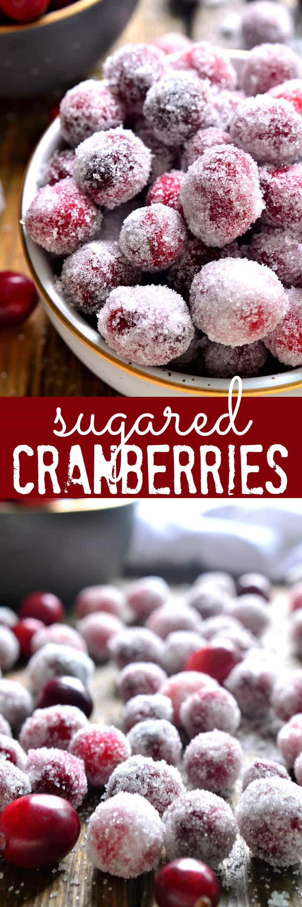 Sugared Cranberries are the ultimate holiday treat! Perfect for snacking, decorating desserts, or garnishing drinks....and they couldn't be easier to make!
