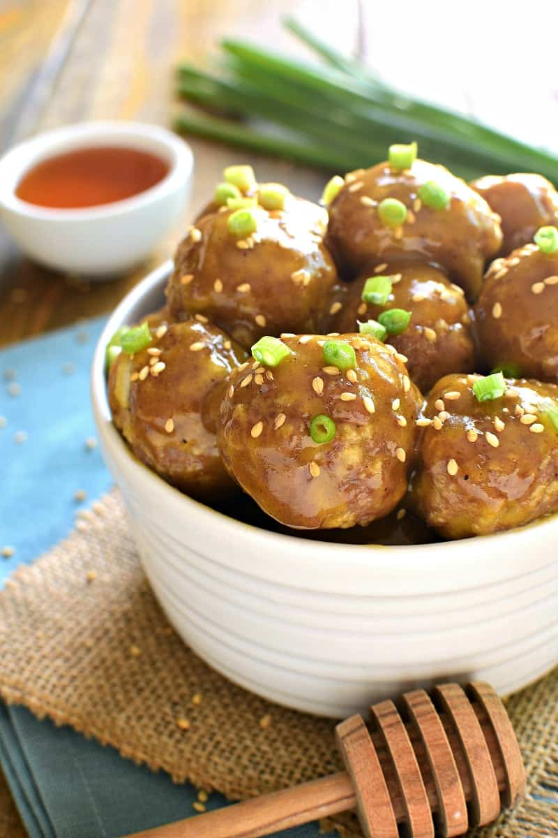 Honey Mustard Cocktail Meatballs are one of our favorite appetizers! It's a kid approved meal! The perfect blend of savory and sweet, they're guaranteed to be the hit of your next party!