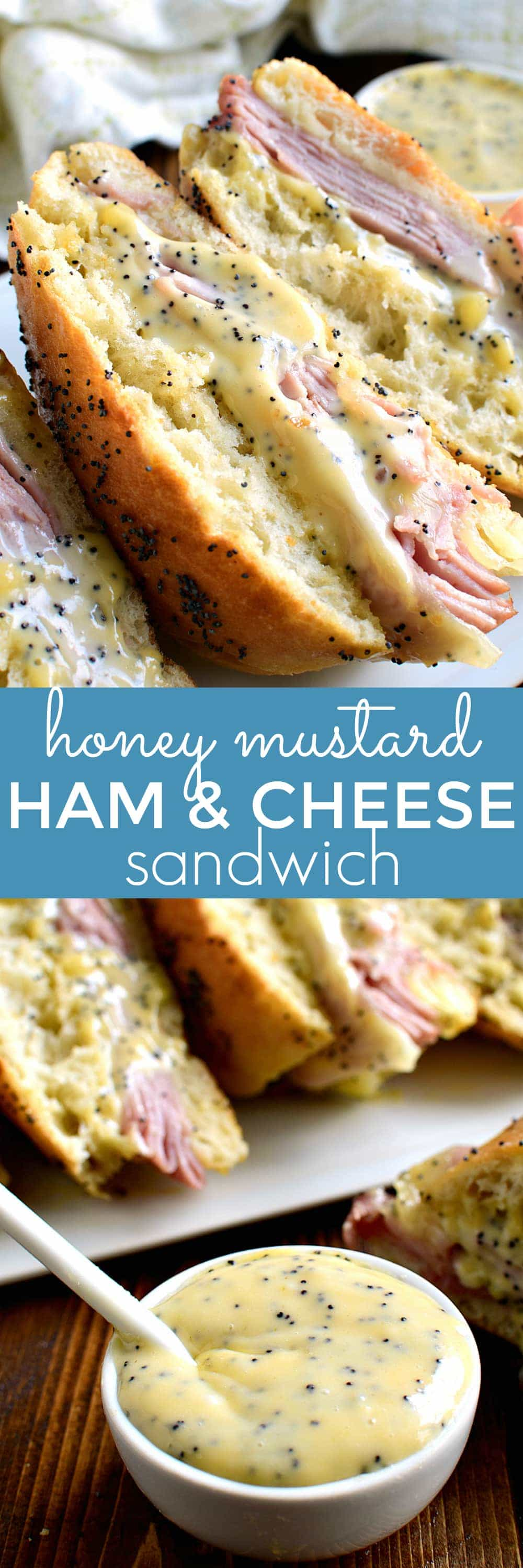 If you love honey mustard, this Honey Mustard Ham and Cheese Sandwich is for you! Perfect for lunch or dinner....a delicious twist on a classic!