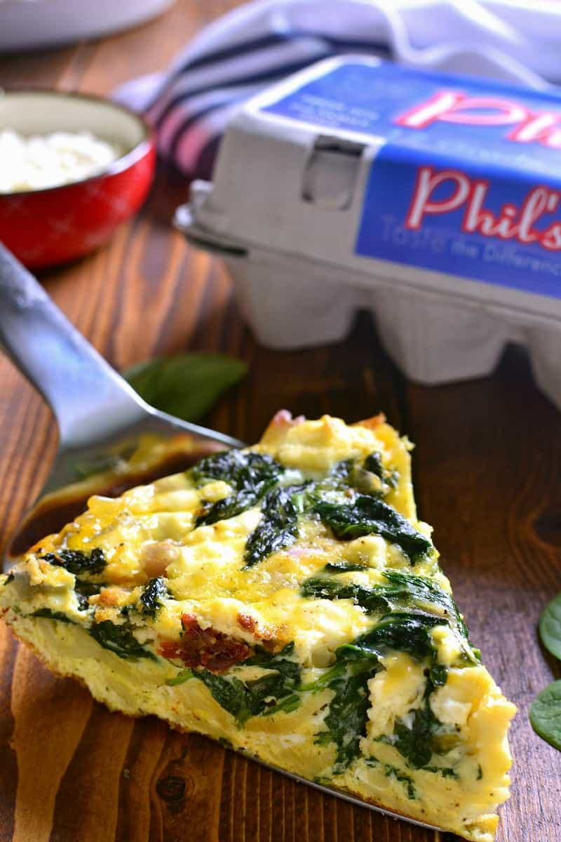Sun Dried Tomato & Spinach Frittata 7 small