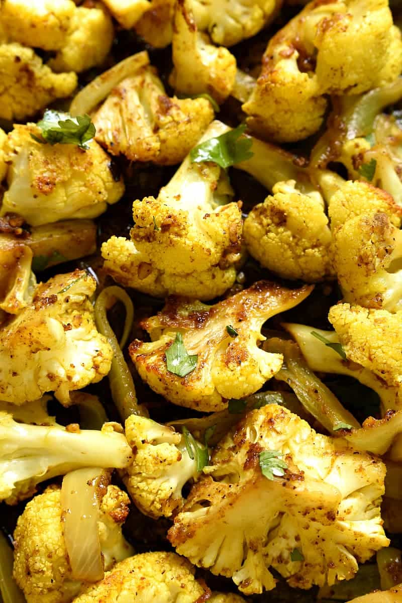 cauliflower roasted with curry spices
