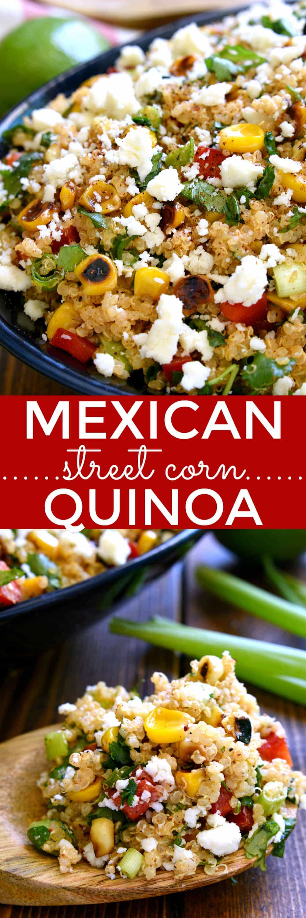 titled photo collage - Mexican Street Corn Quinoa