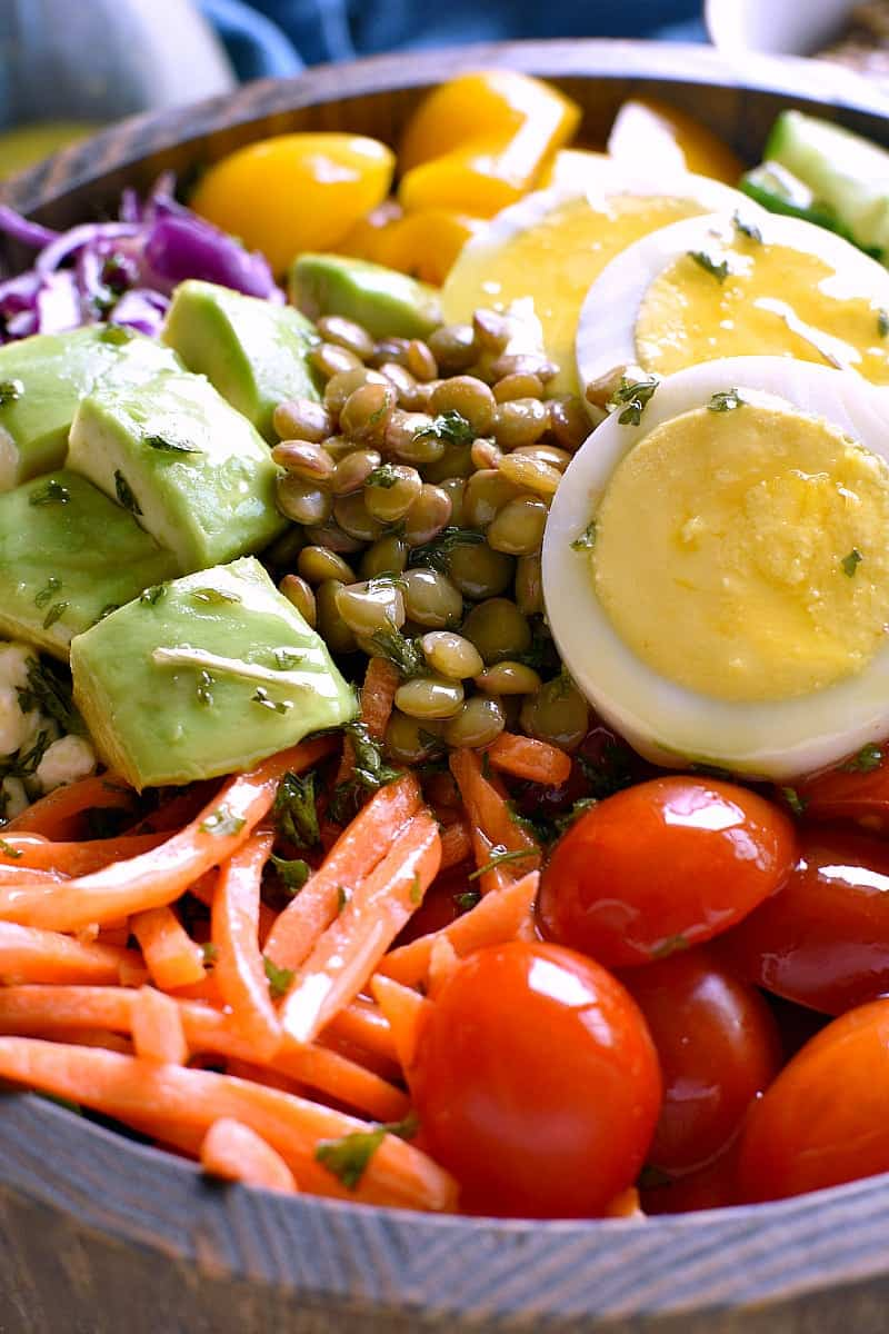 close up image of a Protein Power Salad