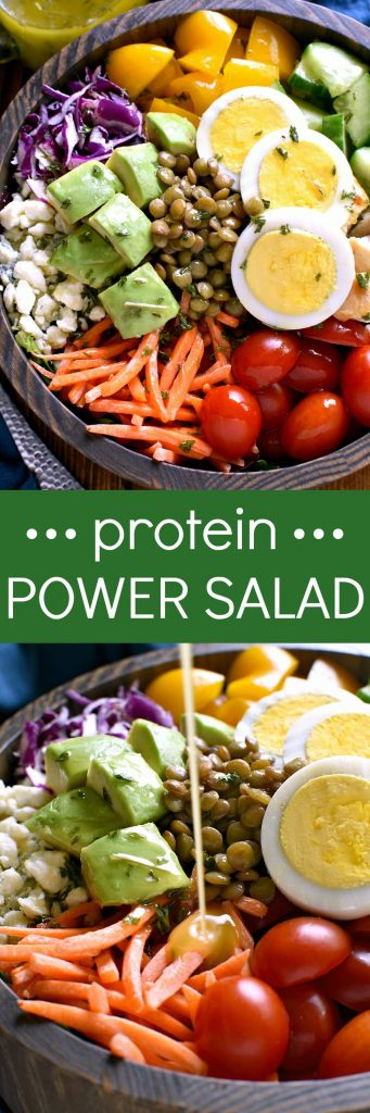 titled photo collage - Protein Power Salad