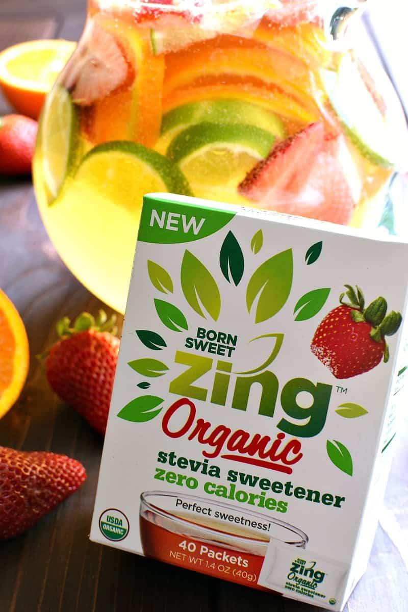 package of Born Sweet Zing organic stevia