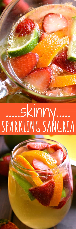 Titled photo collage - Skinny Sparkling Sangria
