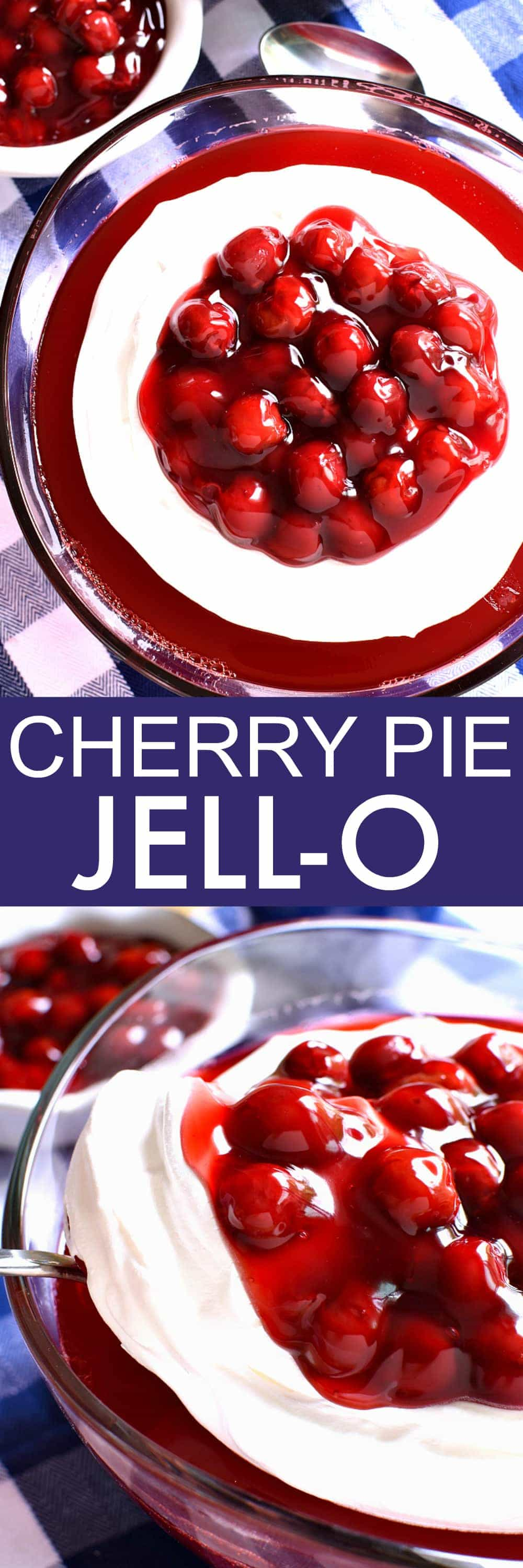 This Cherry Pie Jello is the perfect addition to any summer menu! It's simple to make, with just 3 easy ingredients, and always a huge hit with adults and kid alike!