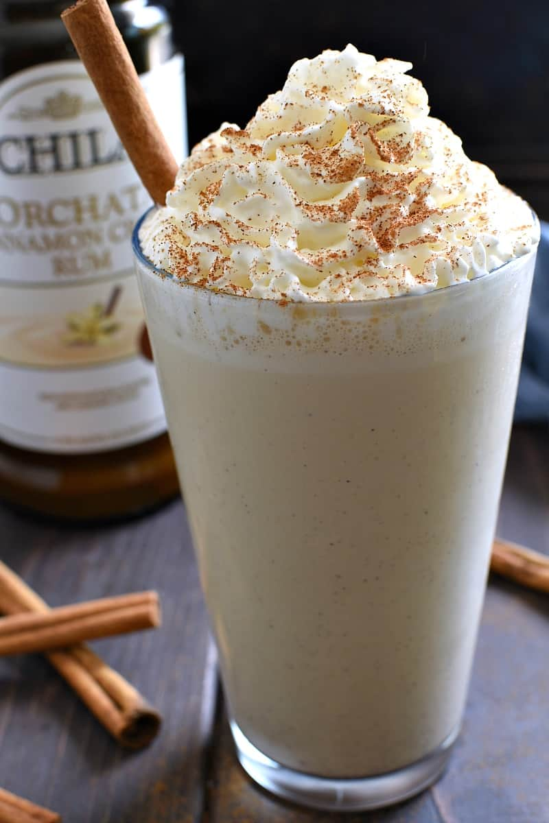 This Boozy Cinnamon Dolce Milkshake has all the flavors of your favorite latte in a deliciously sweet, refreshing milkshake! The perfect warm weather treat.....just in time for summer break!