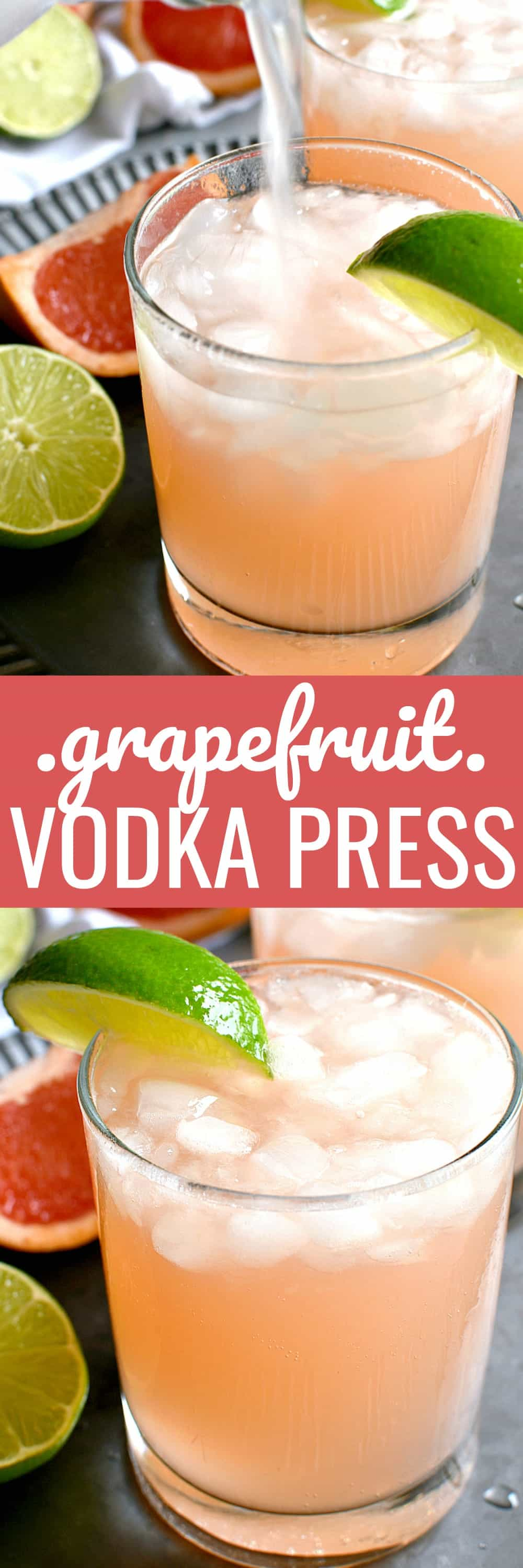 If you love grapefruit, this Grapefruit Vodka Press is for YOU! The perfect balance of sour and sweet....and so refreshing for summer!