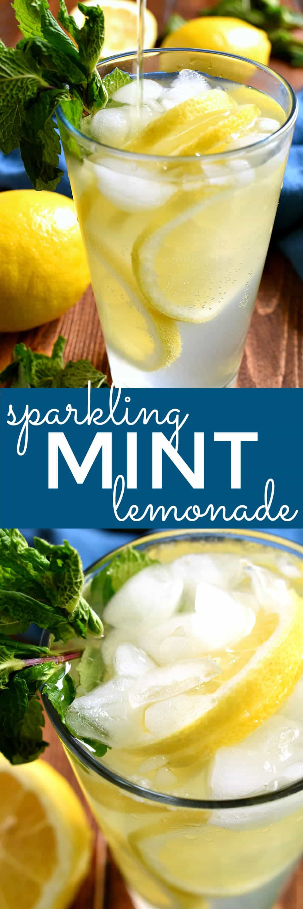 This Sparkling Mint Lemonade is the perfect drink for summer! It's light, refreshing, and packed with the delicious flavor of mint. If you love lemonade, you'll love this fresh new twist!