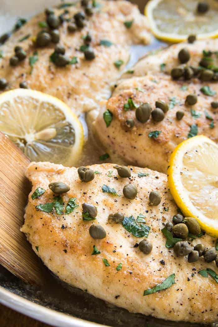 Take advantage of citrus season with this Easy Lemon Chicken Piccata! Made with just a handful of ingredients, this recipe is quick, easy, and packed with the BEST flavor. If you've ever tried Chicken Piccata at an Italian restaurant, this version tastes just like it....only better!