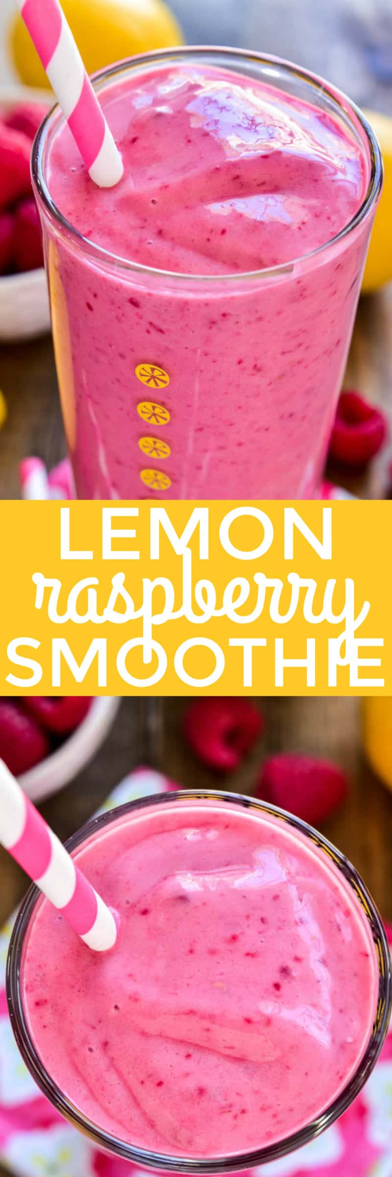 This Lemon Raspberry Smoothie is the ultimate taste of spring! It combines the delicious flavors of raspberry and lemon in an easy smoothie recipe that's perfect for breakfast, snack, or even a lighter dessert.