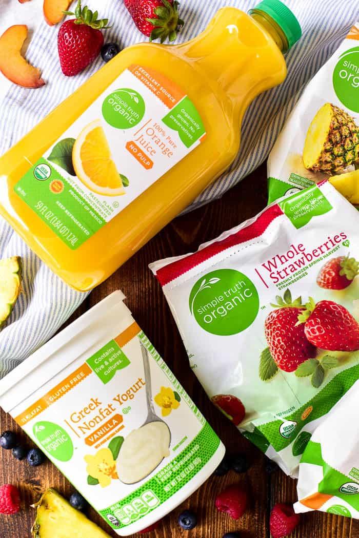 Simple Truth Organic Frozen Fruit, Orange Juice, and Greek Yogurt