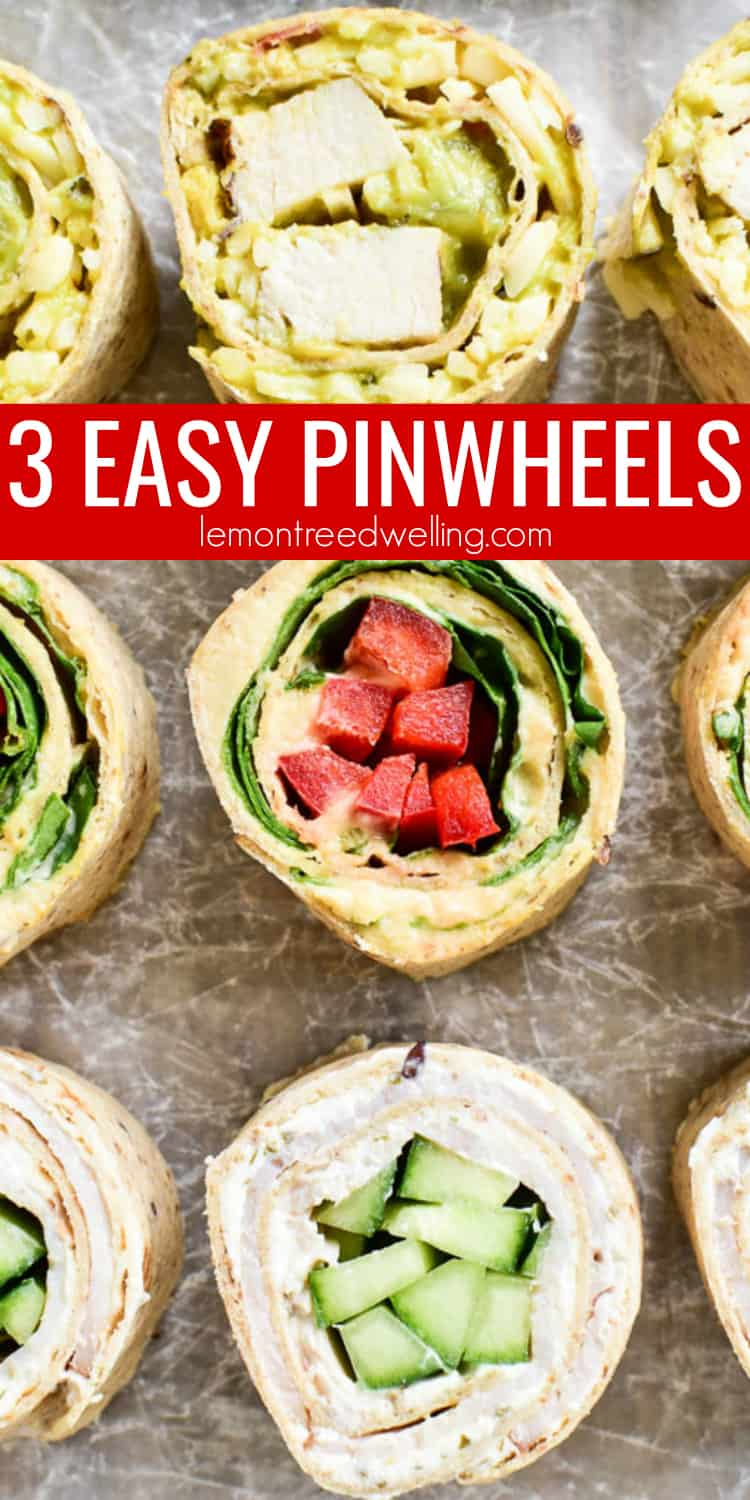 Tortilla Pinwheels make the perfect snack for busy summer days! They're healthy, satisfying, and can easily be made with any of your favorite ingredients. These 3 easy pinwheel recipes are each made with just four ingredients, and they come together in no time at all. Just fill them, roll them, slice them, and they're ready to enjoy.