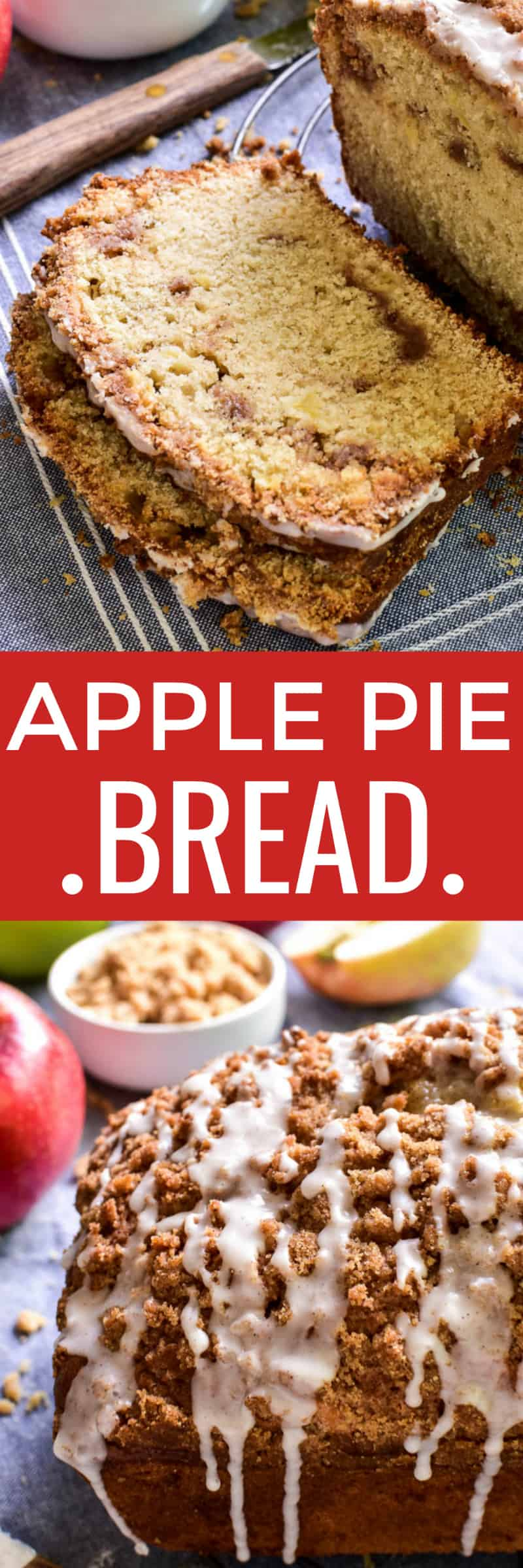 Collage image of Apple Pie Bread