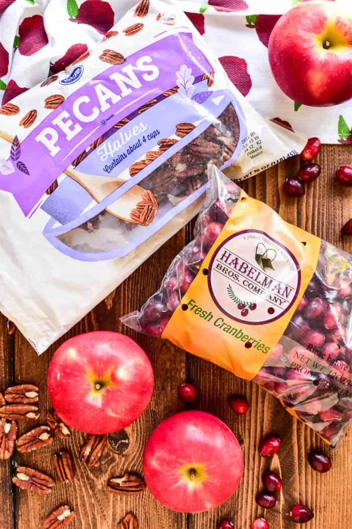 This Cranberry Apple Pecan Salad is one of our fall favorites! It's a delicious blend of sweet and savory flavors, and perfect for the holiday season. Loaded with sweet apples, fresh cranberries, crispy bacon, crunchy pecans, goat cheese, green onions, and a light vinaigrette, this salad makes a beautiful and delicious addition to any holiday meal.
